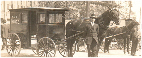 1915 featuring William White, grandfather of the current owners
